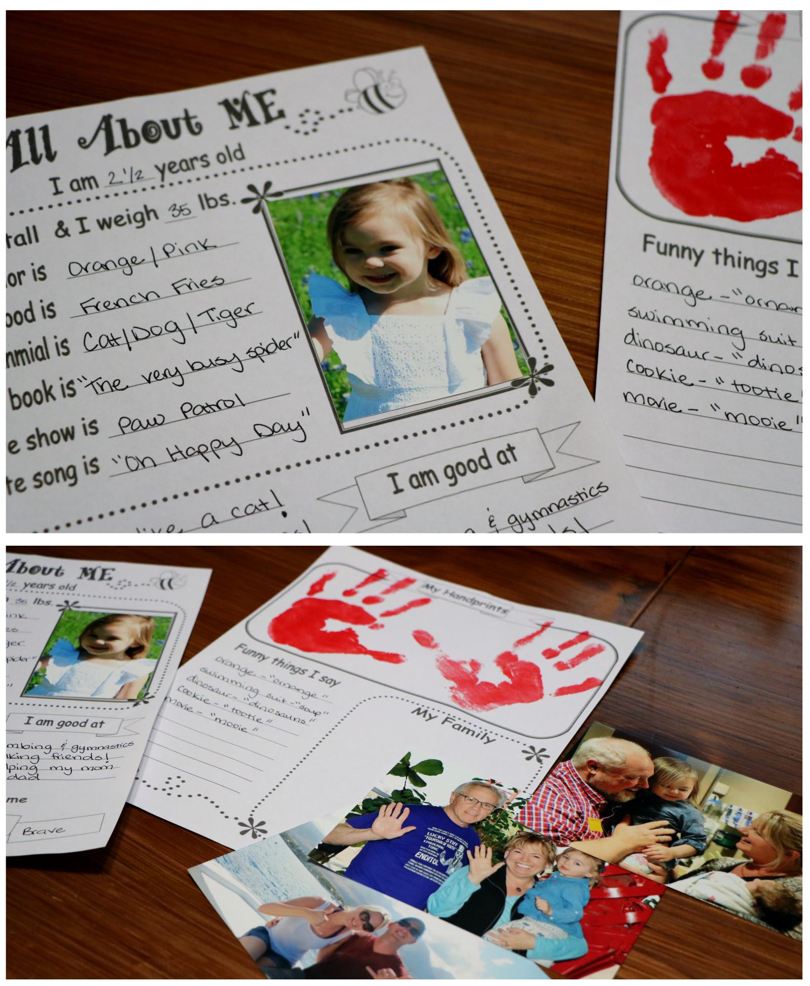 """FREE printable for Toddlers- """"All About ME"""""""